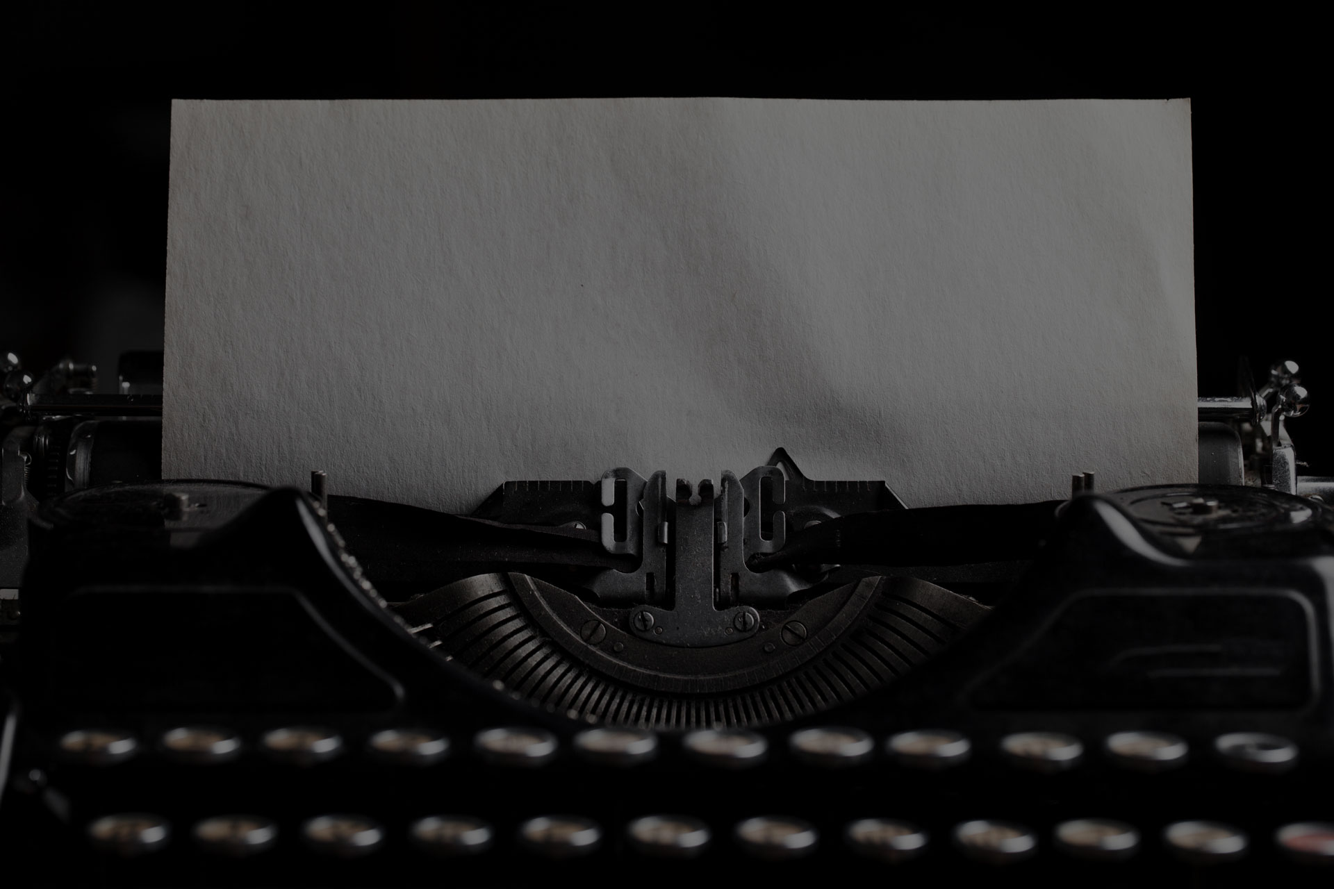 typewriter with paper sheet. Space for your text - Image